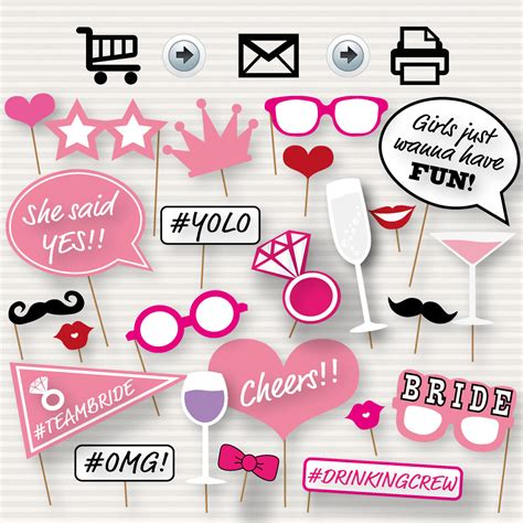 Printable Bridal Shower by Printable Bridal Shower Photo Booth Props