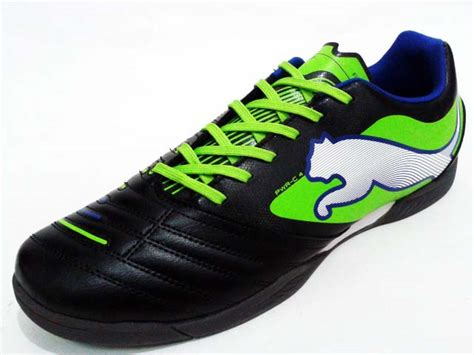 Powercat Sepatu Bola sepatu futsal powercat 4 it black green gudang