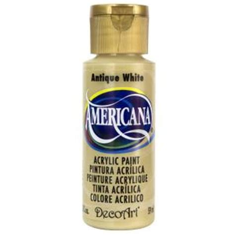 decoart americana 2 oz antique white acrylic paint dao58 3 the home depot