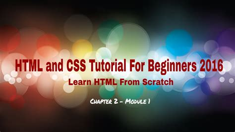 html tutorial for beginners youtube html and css tutorial for beginners 2016 knowing text