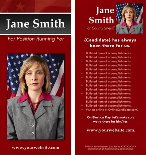 political caign brochure template candidate now offering political brochure templates