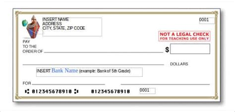 Mock Cheque Template Download Jipsportsbj Info Mock Cheque Template