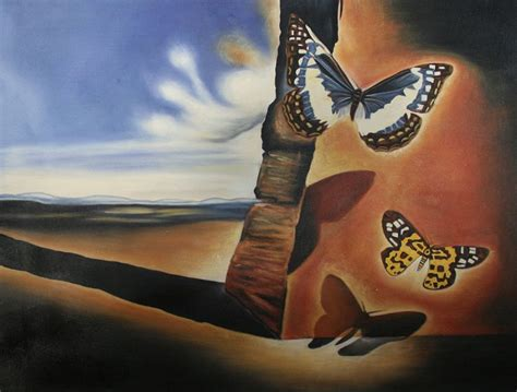 landscape with butterflies 1956 by salvador dali
