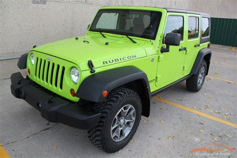 Gecko Green Jeep Wrangler Unlimited For Sale 2013 Gecko Rubicon For Sale
