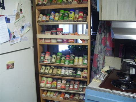 Refrigerator Spice Rack by Spice Rack On Wheels Rolls In Beside Fridge When Not In
