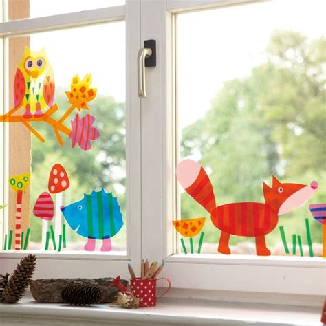 herbstdeko fenster transparentpapier die 25 besten ideen zu fensterbilder kinderzimmer auf