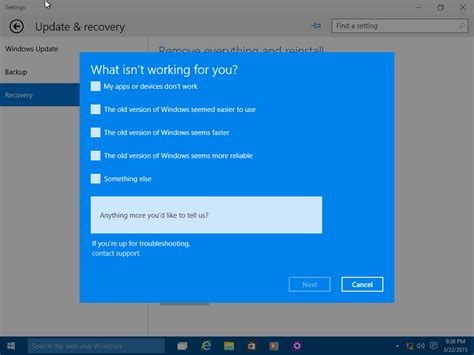 uc tales backup and restore user data after failed move windows 10 rollback information office of information