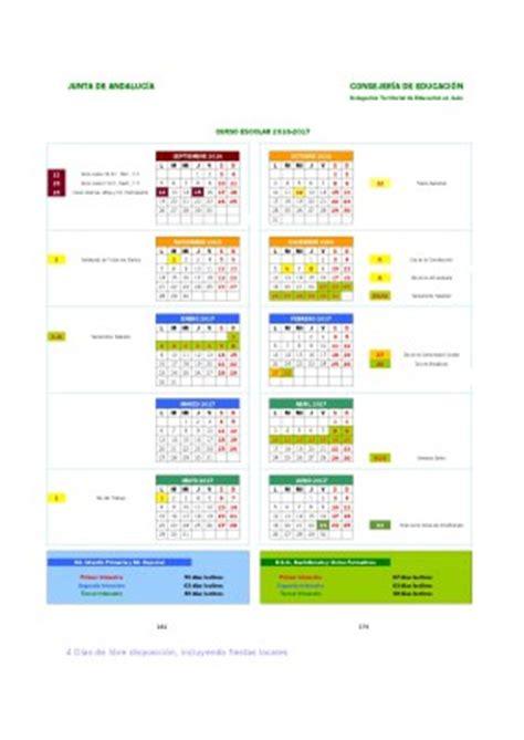 Calendario Escolar Secundaria Cantabria 2016 Calendarios Escolares 2016 2017 En Andaluc 237 A Y Resto De