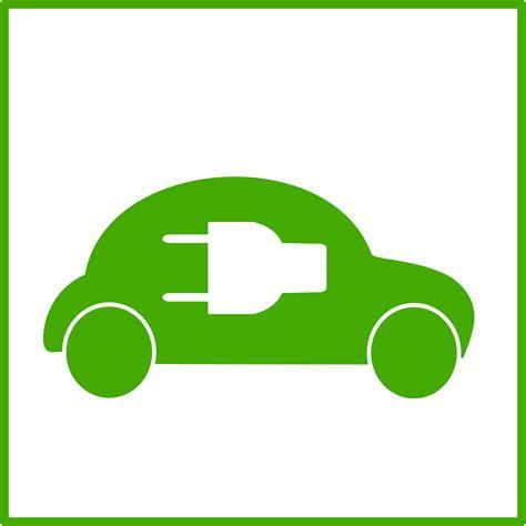 Electric Car Icon Clipart Eco Green Car Icon