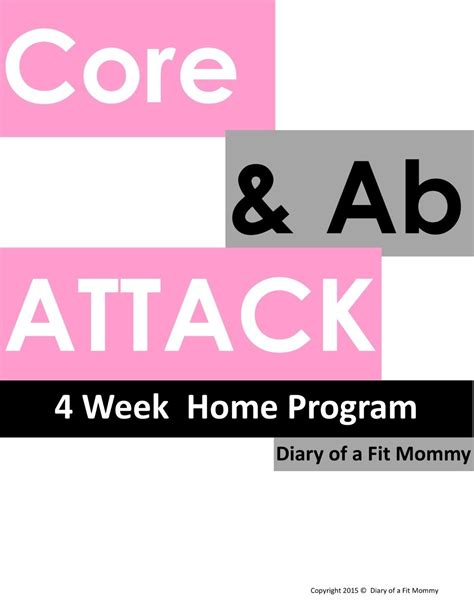 ab attack 4 week home workout program