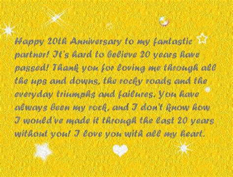 Wedding Anniversary Quotes 20 Years by Happy 20th Anniversary Quotes Wishes And Images