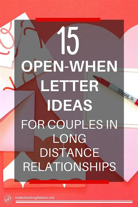 gift ideas for distance relationships diy distance gifts open when letters distance