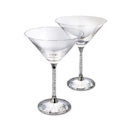 party glasses swarovski crystal pair of swarovski crystal filled stem cocktail glasses