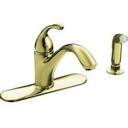 gold kitchen faucets kohler forte gold kitchen faucet w sprayer touch