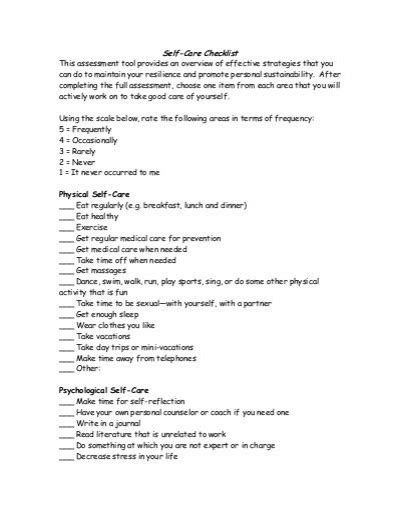 Self Care Worksheets by All Worksheets 187 Self Care Worksheets Printable