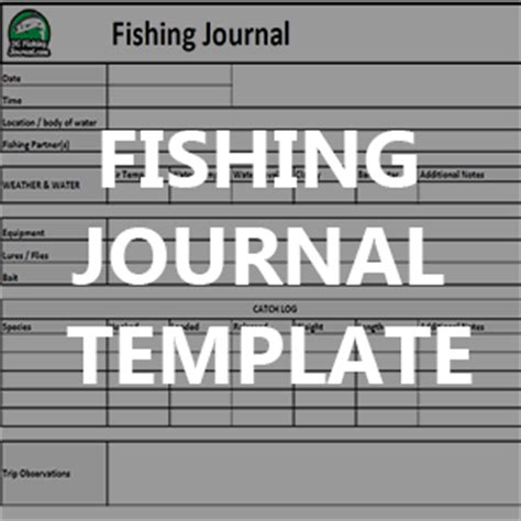 Fishing Journal Template by Record Your Fishing Trip Data Bc Fishing Journal