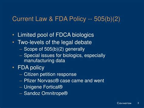 fdca section 505 ppt follow on biologics powerpoint presentation id 313613