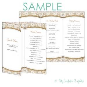 Tri Fold Wedding Program Template by Wedding Program Templates Tri Fold Www Imgkid The