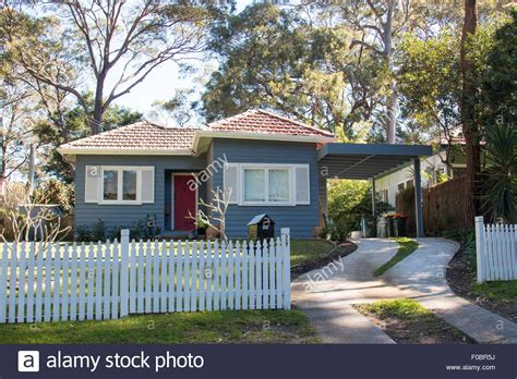 Cottage Sydney traditional detached cottage home house in avalon on sydney stock photo royalty free
