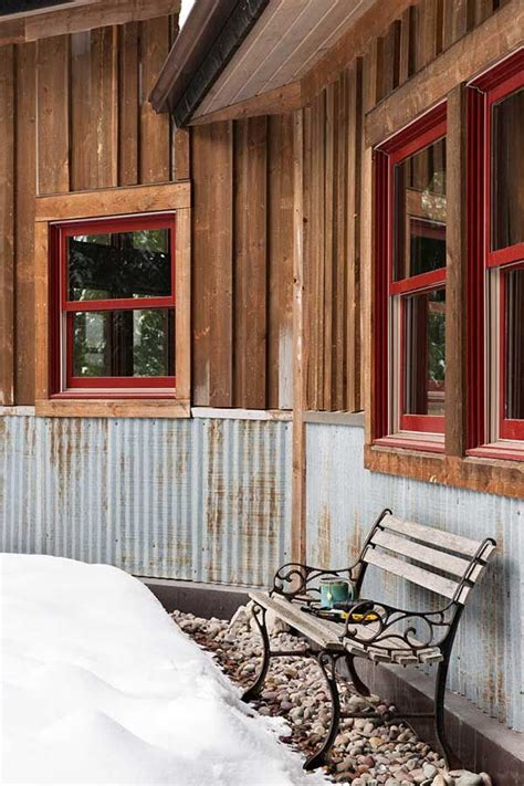 Metal Wainscoting Ideas by Mindful Designs Rustic Exterior Finishes Cabin Materials