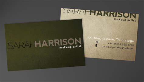business card artist business card makeup artist jirka s