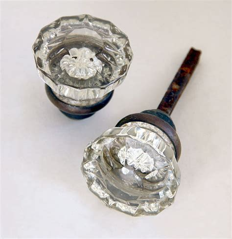 Vintage Glass Door Knobs by Antique Deco Glass Door Knobs And Back By