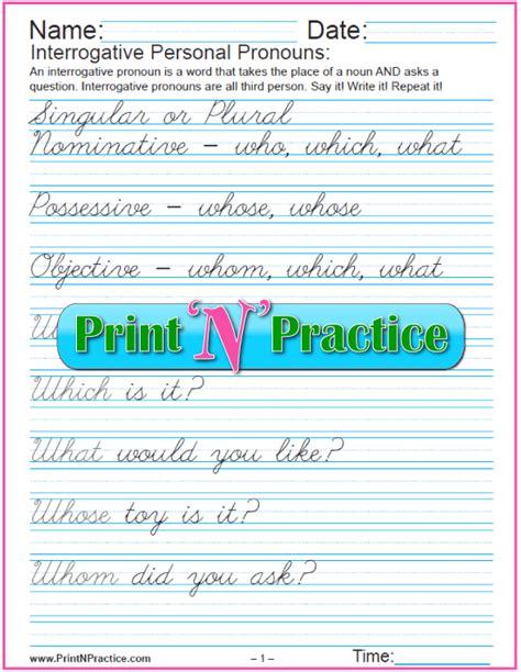 printable worksheets interrogative pronouns all worksheets 187 interrogative pronouns worksheets for