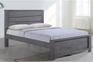 Bed Frames Grey Gawsworth Grey Wooden Bed Frame King Size