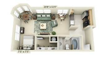 Apartment Layout Ideas by Studio Apartment Floor Plans