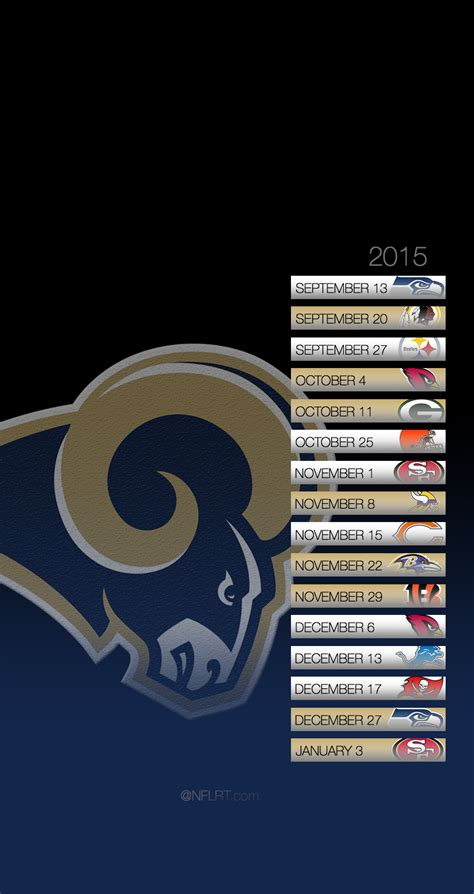 st rams schedule 2015 nfl schedule wallpapers page 8 of 8 nflrt