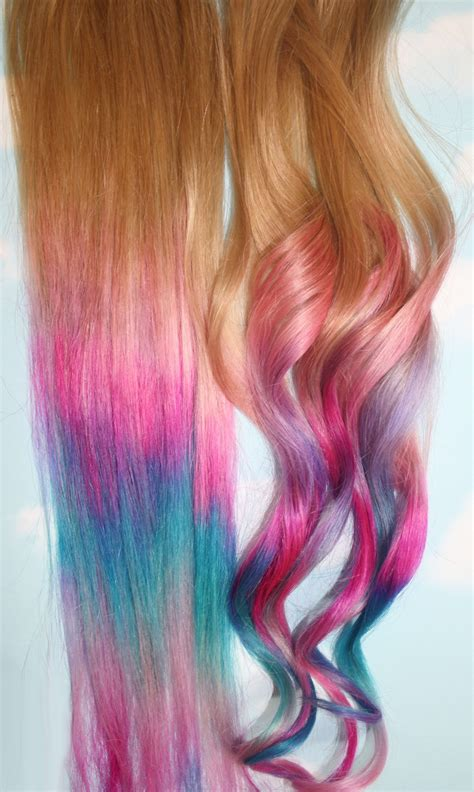 Hairstyles Color Tips | ombre tie dye hair tips set of 2 dirty blonde human hair