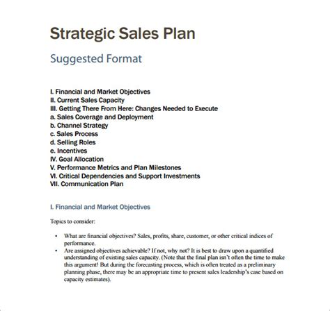 business plan sle template sales plan template 25 free sle exle format