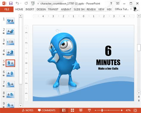 Animated 10 Minute Countdown Powerpoint Template 10 Minute Presentation Template