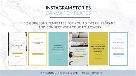 Instagram Stories Canva Templates Youtube Instagram Stories Templates