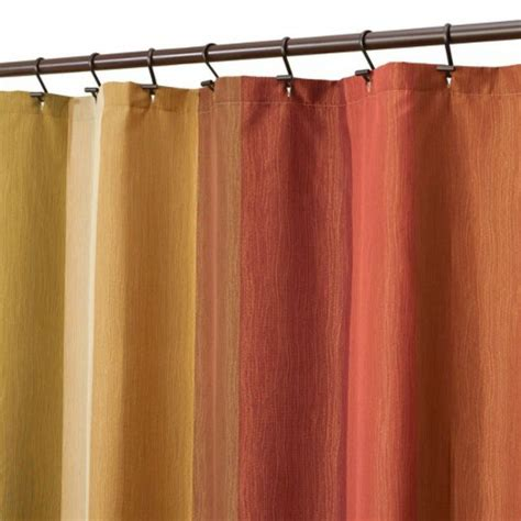 earth tone shower curtains target threshold striped shower curtain 72x72 quot brown