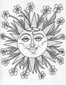 Trippy Sun And Moon Coloring Pages The Peace sketch template