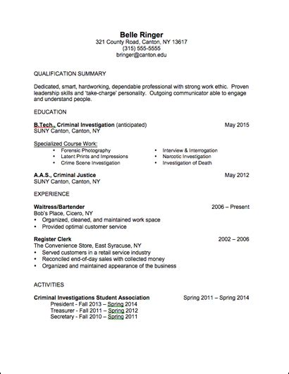 Resume Sample University Student by Career Services Sample Resumes