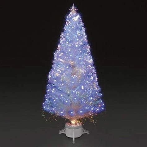 buy 6ft polar ice white fibre optic led christmas tree