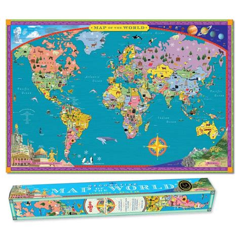 map world poster world map wall poster for educational toys planet