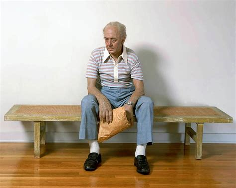 man on the bench wide eyed dreaming duane hanson