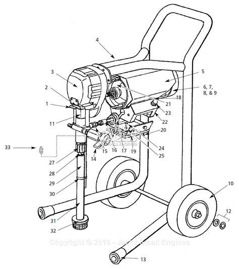sprayer parts diagram cbell hausfeld al2710 parts diagram for paint sprayer parts