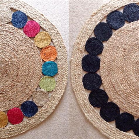 diy jute rug this colourful jute rug had a monochrome makeover this particular kmart rug was made with
