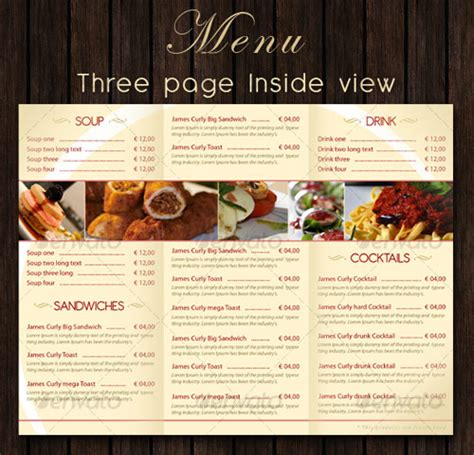 restaurant menu design templates 25 high quality restaurant menu design templates web