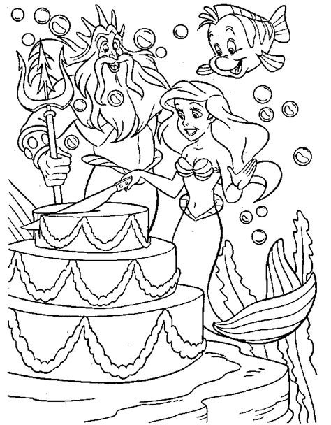 coloring page for little mermaid free printable little mermaid coloring pages for kids