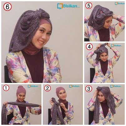 tutorial gambar hijab pesta tutorial hijab untuk pesta 1