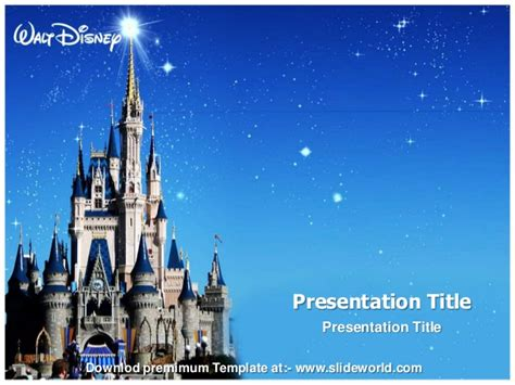 Disney World Powerpoint Template Slideworld Disney Powerpoint Background