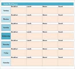 Menu Planner Template Excel by Meal Planning Template 17 Free Documents In Pdf