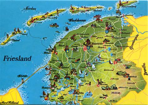 netherlands map detailed friesland netherlands map images