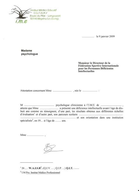 modele word attestation de stage document