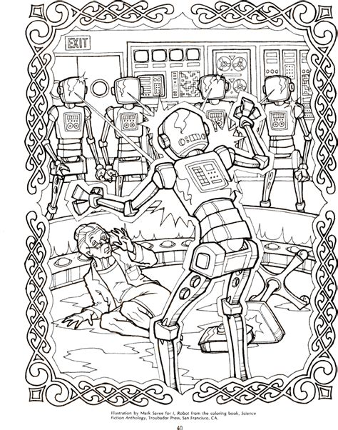 guys of sci fi coloring book a grown up coloring book for anyone who guys books robot illustration